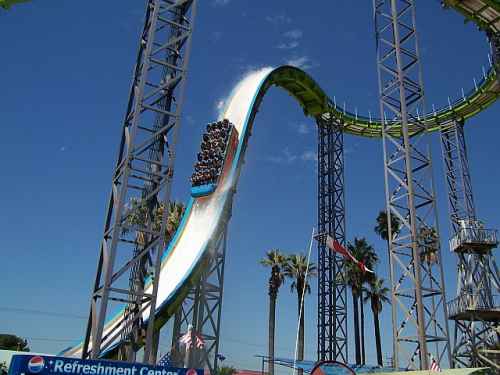 Knott's Berry Farm World Record Water Chute!
