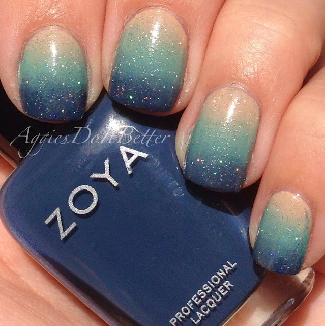 Aggies Do It Better: Beachy Gradient nails with Zoya...part 2