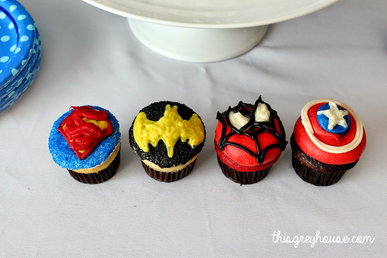 Superhero Cupcakes.... This Grey House