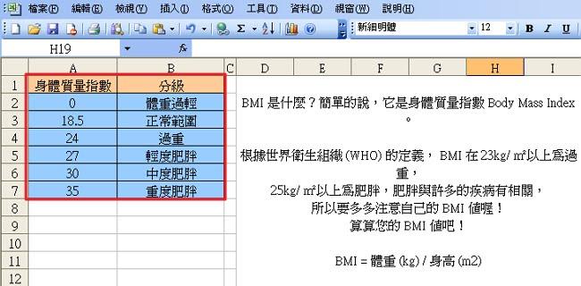 方法 bmi 計算