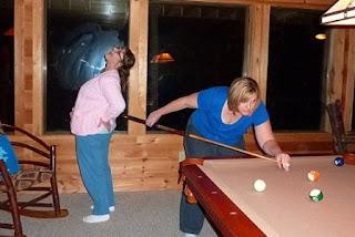 playing pool girls night