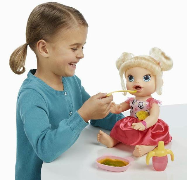 Búp bê Bé yêu tập ăn Baby Alive biết ăn uống và đi vệ sinh