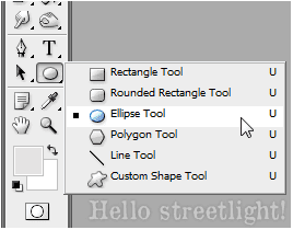 Switch to the Ellipse tool.