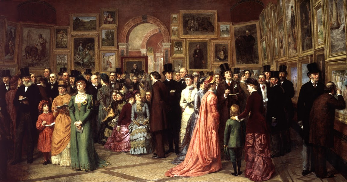 William Powell Frith - A Private View at the Royal Academy