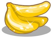 banana dourada na colheita feliz