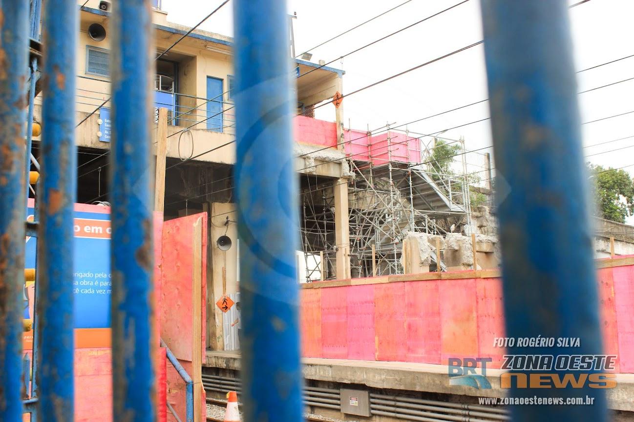 Reforma da Estação Olímpica de Magalhães Bastos começou, mas o projeto de como ficará a nova estação ninguém sabe