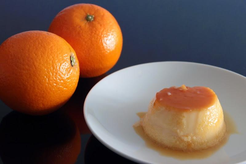 Flan de naranja