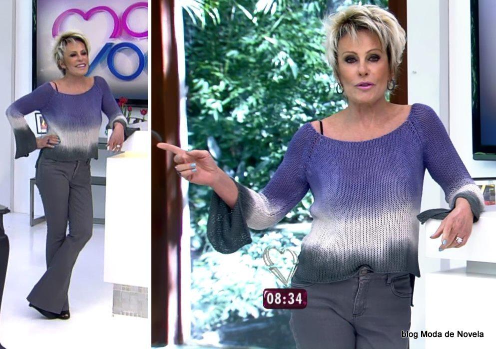 moda do programa Mais Você - look Ana Maria Braga