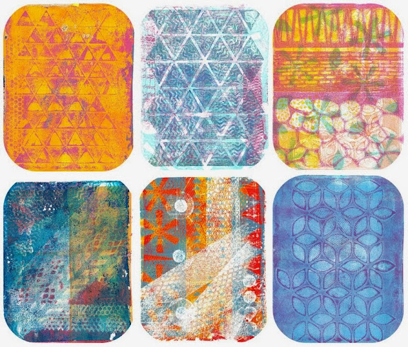 Mono-prints using a Gelli Plate