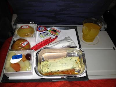 Café da Manhã servido um voo TAP entre São Paulo e Lisboa