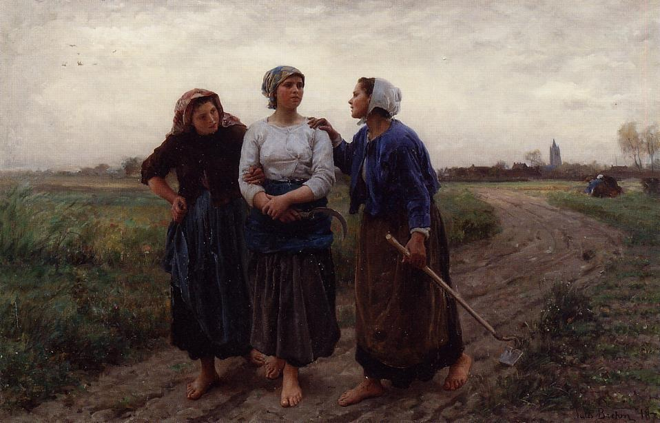 Jules Breton - Setting out for the Fields
