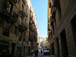 Hotel Espana was on this alley leading to the Ramblas