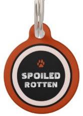 Red Custom Dog ID Tag