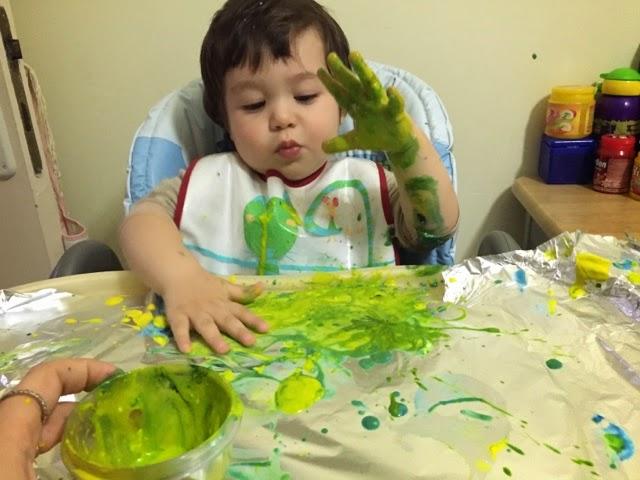 Evde Oyun Var Bebekler Için Güvenli Parmak Boyası