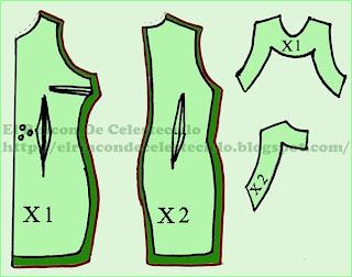 Patrones vestido ajustado con efecto levantacola
