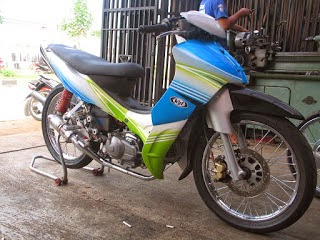 Modifikasi Jupiter Mx Ala Road Race