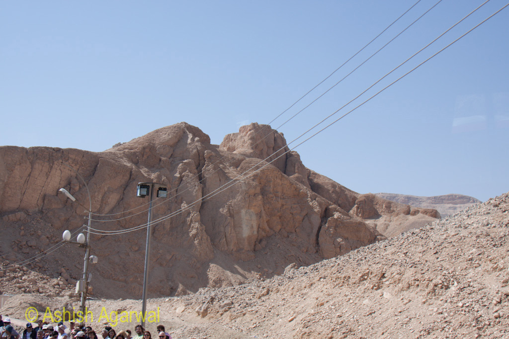 There is always some work going on in the limestone mountains near Luxor
