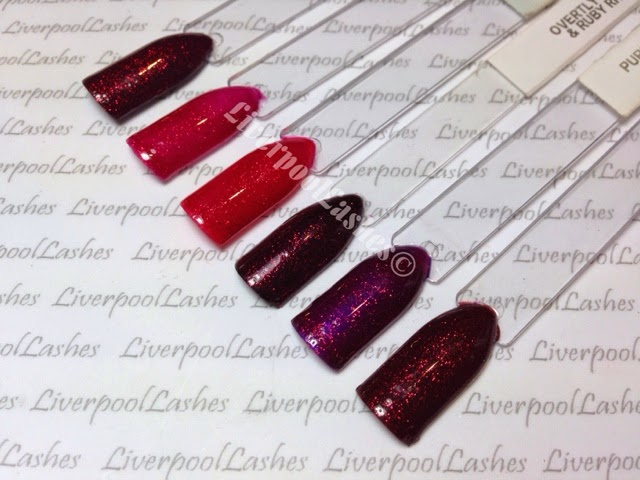 liverpoollashes liverpool lashes cnd shellac ruby ritz combinations pro beauty blogger