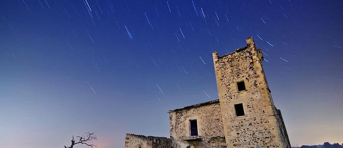 lluvia estrellas, vista espacio, estrellas, estrellas cayendo
