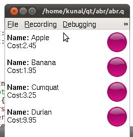 Qt ,Maemo and some other stuff: Creating custom ListView delegate in QML