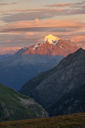 Traversée des Alpes, du lac Léman à la Méditerranée Gr5-mont-blanc-briancon-mont-pourri-coucher-soleil