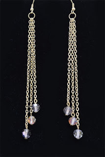 Elegance - Chain & Swarovski AB Quartz crystal  $18