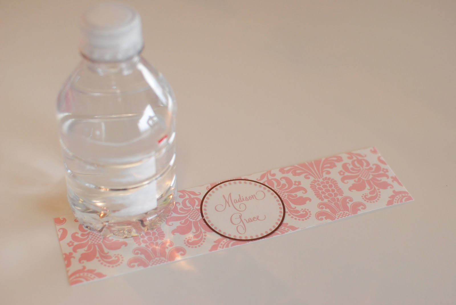 Life Sweet Life DIY Printable Water Bottle Labels - Mini water bottle label template