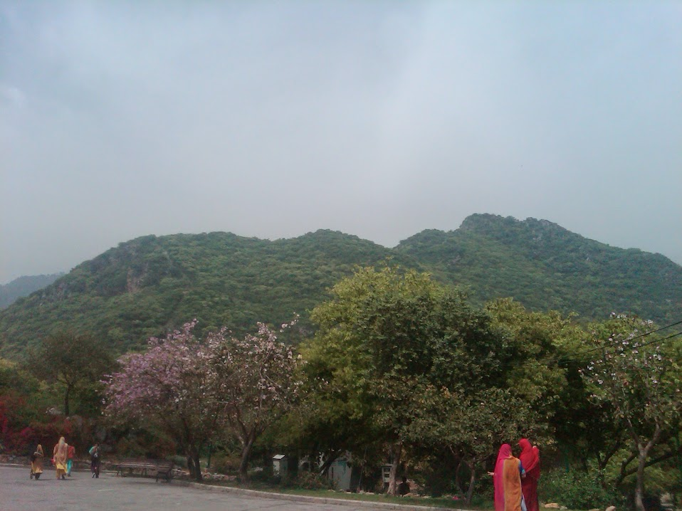 View of Margalla Hills from Daman-e-Koh during teacher's trip