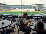 Lunch at the ballpark was nice...until it rained steadily for the next 6 hours...too wet for my camera, so this is it for pictures