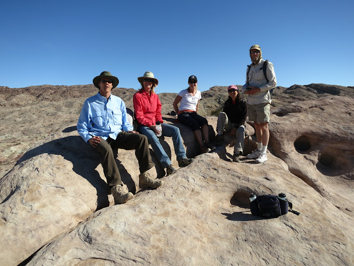 Group enjoying the view of the Borrego Badlands