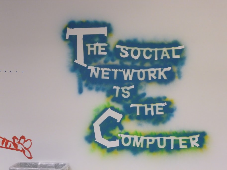 Wall art at the new Facebook HQ in the former Sun MPK Campus
