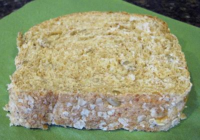 a slice of multigrain bread