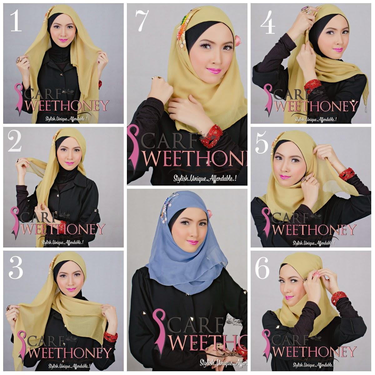 Tutorial Hijab Segi Empat Untuk Wajah Lonjong Tutorial Hijab
