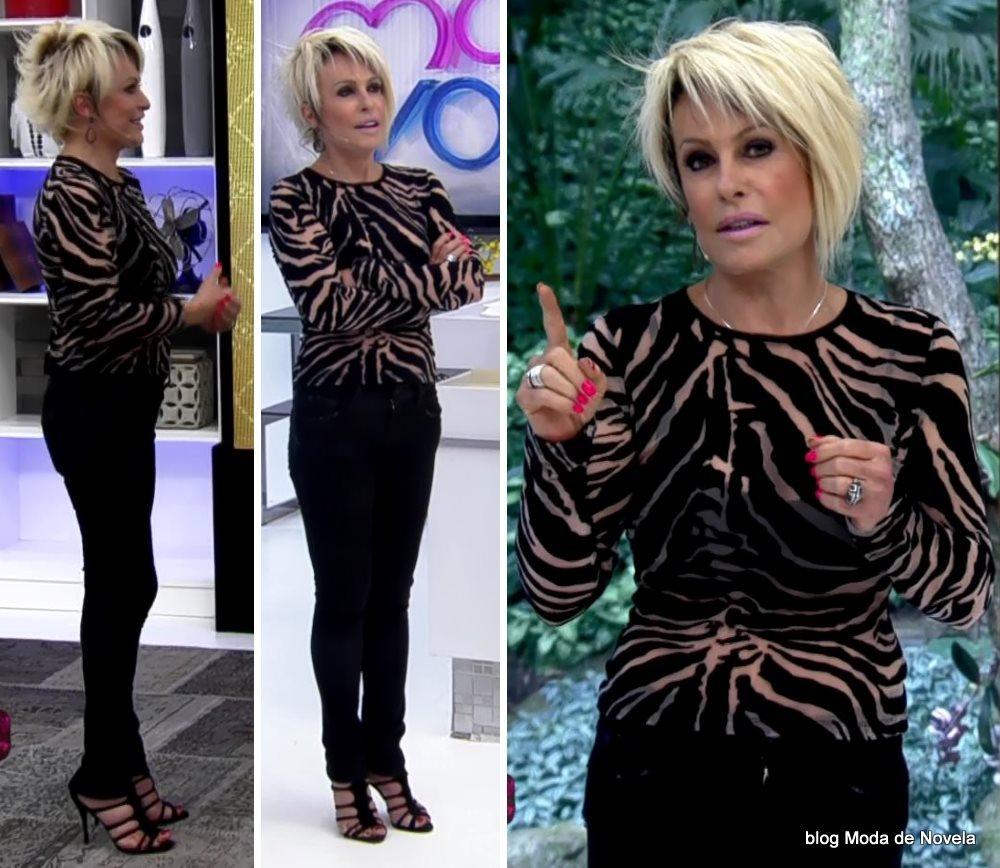 moda do programa Mais Você - look da Ana Maria Braga dia 27 de agosto