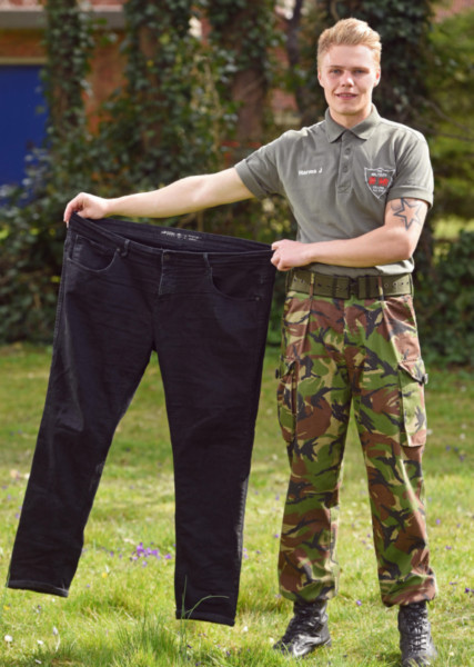 Transformasi Jai Harms menjadi seorang calon marinir yang gagah