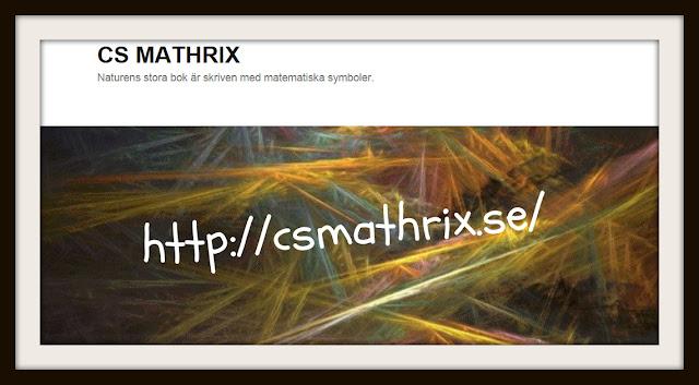 CS MATHRIX - Naturens stora bok är skriven med matematiska symboler.