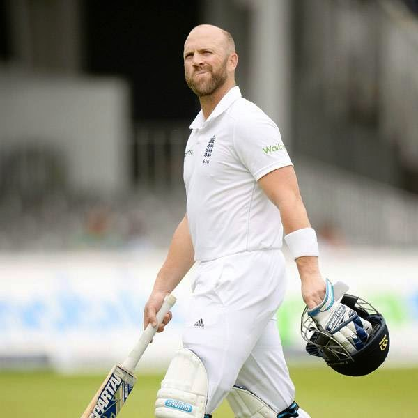England's Matt Prior leaves the field after being dismissed for 12 runs during the second cricket test match against India at Lord's cricket ground in London July 21, 2014.