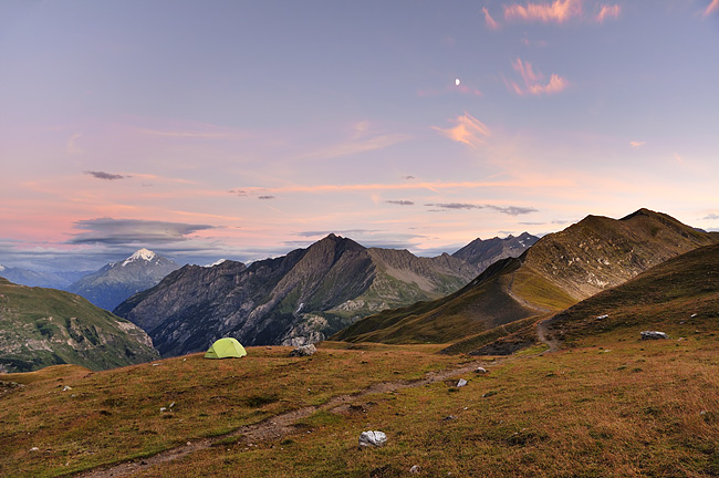 Traversée des Alpes, du lac Léman à la Méditerranée Gr5-mont-blanc-briancon-mont-pourri-bivouac