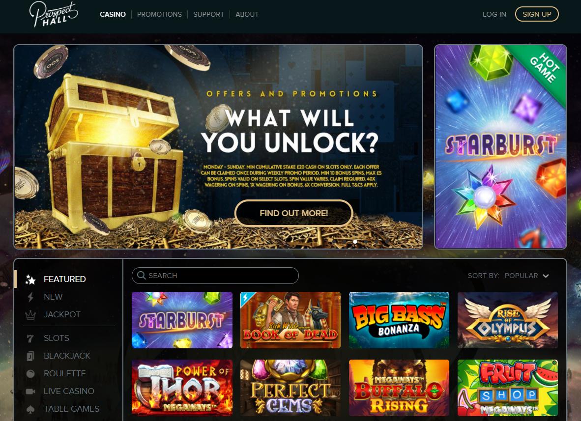 Prospect Hall Casino Homepage