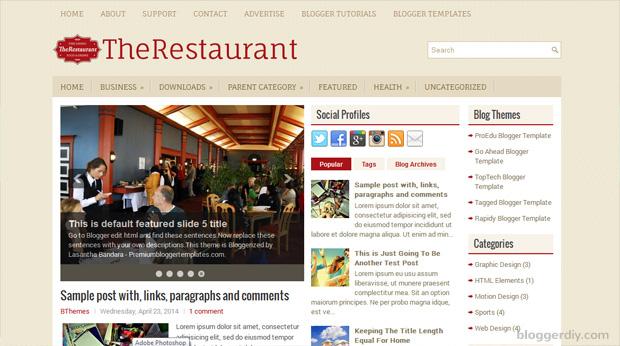 The Restaurant Blogger template
