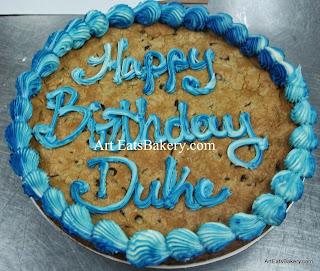 Chocolate chip cookie birthday cake