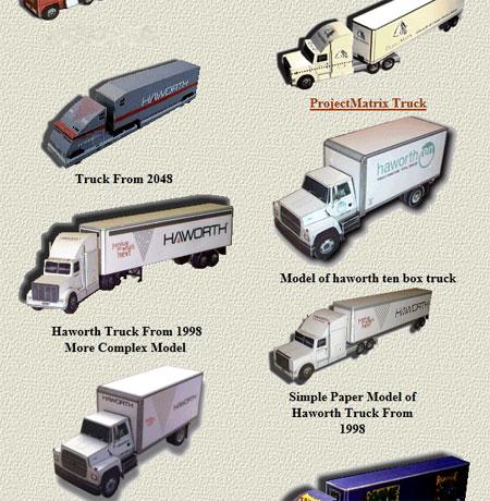 Cargo Freight Truck Papercrafts