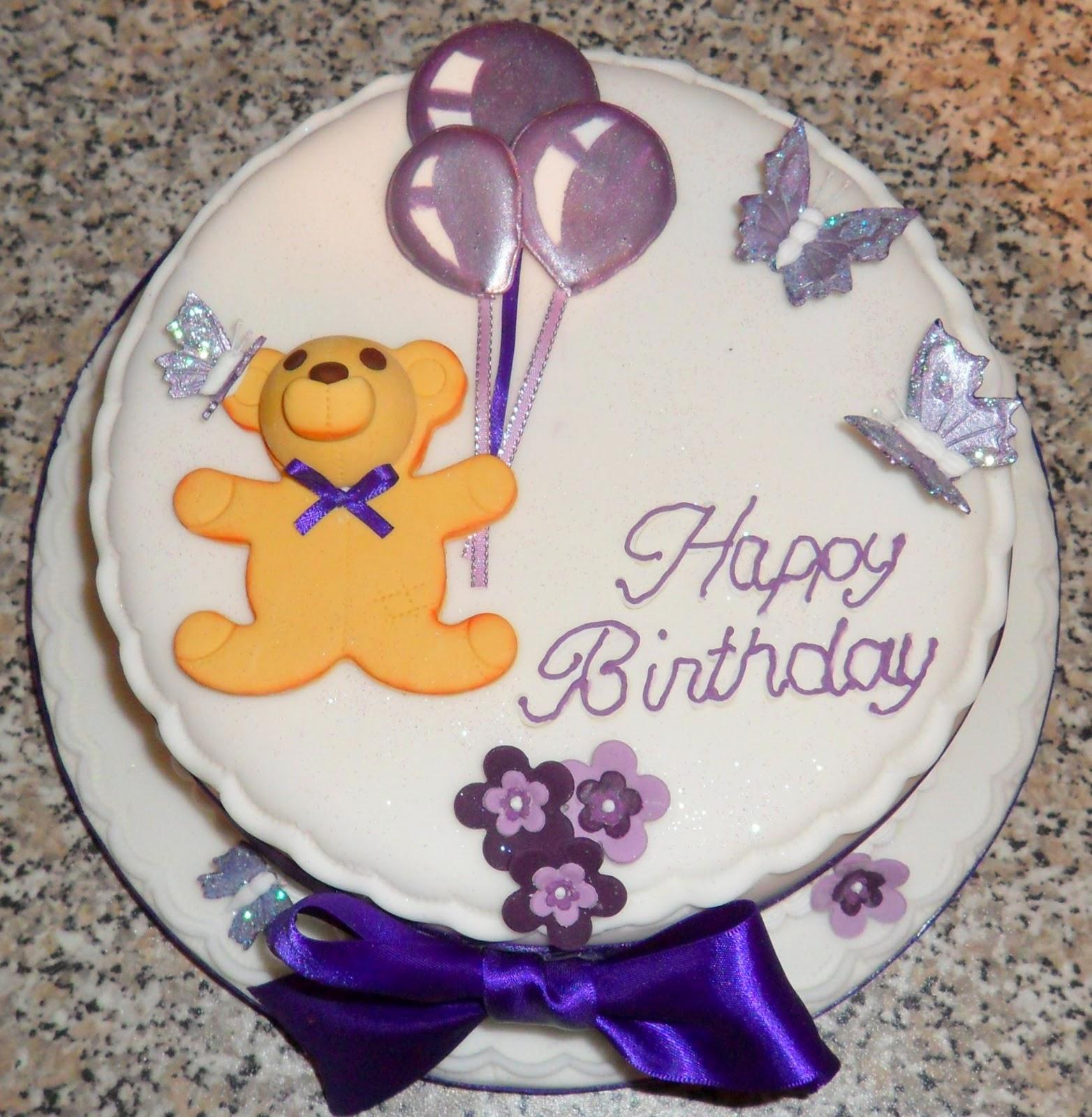 the fondant fairy teddy bear birthday cake