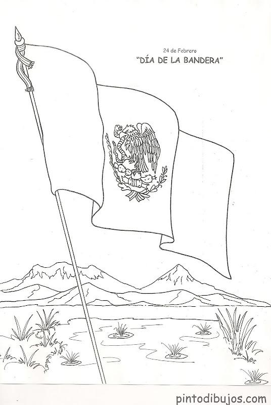 Dibujo del día de la bandera para colorear
