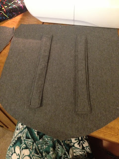 Adding straps to the back fabric piece.
