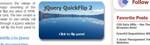 jQuery Flipping Plugin : QuickFlip