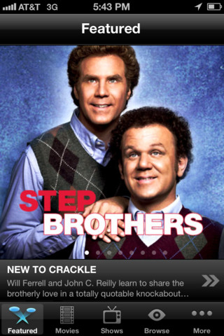 Crackle movie for iphone