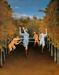 rousseau, football, players, 1908, playful, happy, sports, play
