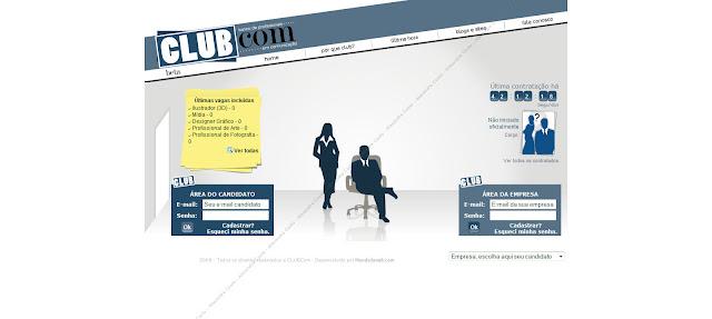 Tela do site CLUBCom