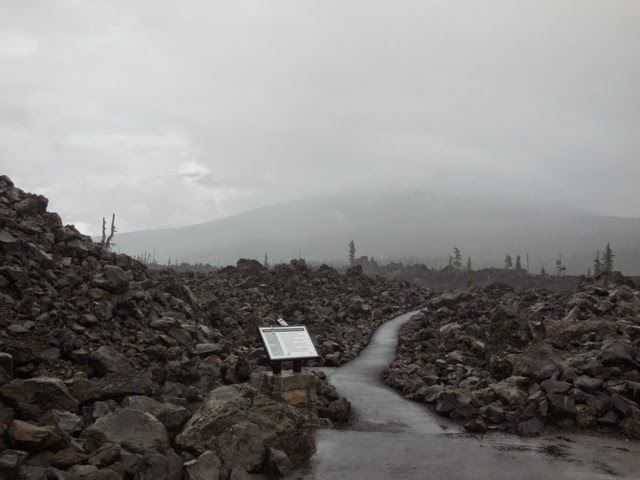 Lava bed at the top of McKenzie pass (5325ft). apparently very beautiful when it doesnt rain.